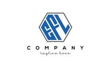 Letters EFL Creative Polygon Logo Victor Template