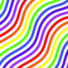 Rainbow Art Background. Vector Pattern. Abstract Geometric Striped Pattern. Vector Illustration. Wavy Pattern.