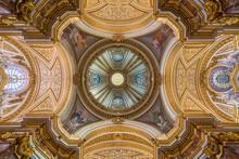 Interior View Of The Church Sant'Antonio Dei Portoghesi In Rome, Italy. August-12-2021