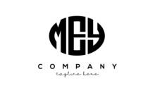 MEY Three Letters Creative Circle Logo Design