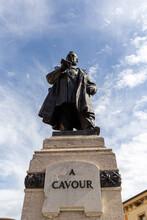 VERONA, ITALY, August 28, 2012, Statue Of Camillo Paolo Filippo Giulio Benso, Count Of Cavour At Verona