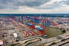 Hamburg Container Harbor