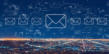 Email Concept With Downtown Los Angeles