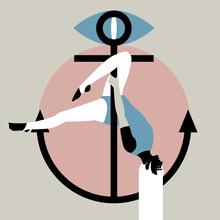 Pole Dance At An Anchor