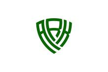Ark Creative Letter Shield Logo Design Vector Icon Illustration