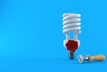 Light Bulb With Wax Seal Stamp