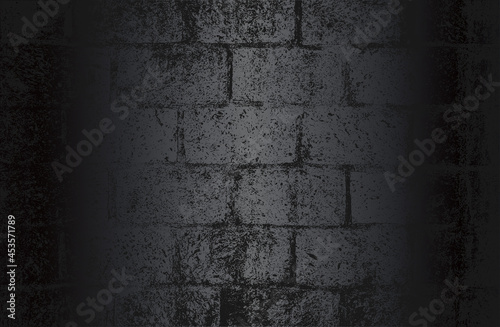 Photo Luxury black metal gradient background with distressed brick wall texture