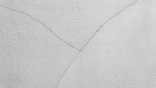 Closeup Concrete Paint Grey Color With Scratch On Cement House Distressed Wall Or Ceiling Texture Background