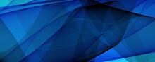 Abstrakter Hintergrund 4k Blau Hell Dunkel Schwarz Wellen Und Linilen Banner