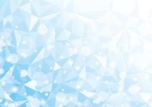 ポリゴンスタイルとキラキライメージの背景 青 氷や冬イメージ Polygon Background Glitter Blue