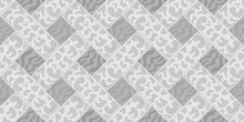 Woven Geometric Ornament  In Shades Of Gray, Seamless
