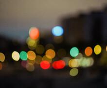 Luces De La Ciudad De Bokeh En La Noche