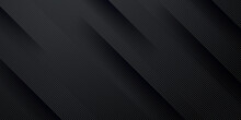 Dark Black Neutral Abstract Background For Presentation Design. Simple Black Abstract Banner Background