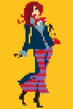 Pixel Art. Fashion