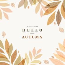 Autumn Shopping Event Illustration. Banner. Frame.