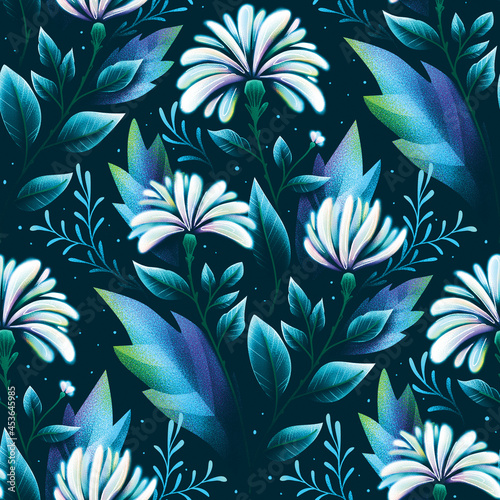 holographic flowers texture