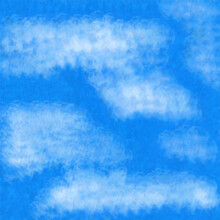 Watercolor Abstract Artistic Pattern Texture Background - Summer Blue Sky With White Clouds