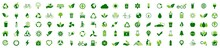 Ecology Icon Set. Ecofriendly Icon, Nature Icons Set On White Background. Vector Illustration