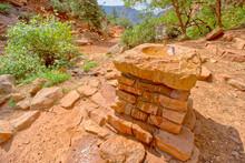 Water Fountain At Supai Tunnel North Kaibab Trail At Grand Canyon North Rim AZ