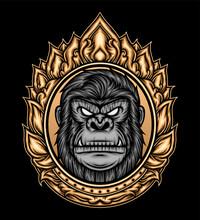 Ornament Of Gorilla Head