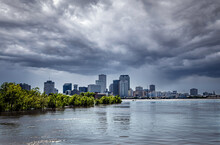 New Orleans With Approaching Storm