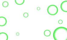 Green Bubble Pattern White Background