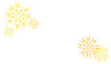 White Background With Yellow Fireworks