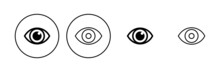 Eye Icon Set. Eye Vector Icon. Look And Vision Icon.