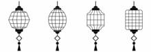Chinese Lantern Icon Set Vector Sign Symbol