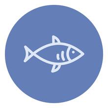 Blue Bonefish, Illustration, Vector On A White Background.