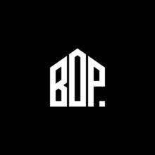 BOP Letter Logo Design On Black Background. BOP Creative Initials Letter Logo Concept. BOP Letter Design.