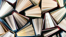Group Of Books. Education Background. Back To School Concept. Abstract Pattern