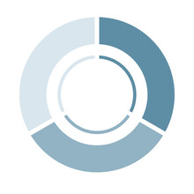 Infographics. Pie Chart Divided Into Three, Chart Chart, Illustration, PDCA, Business, Process Management.