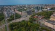 Izhevsk, Russia. Aerial timelapse of the city of Izhevsk located in Russia