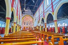 Interior Of Holy Trinity Anglican Church, Yangon, Myanmar