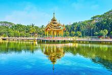 The Pond In Theingottara Park, Yangon, Myanmar