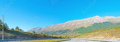 Fotografie, Obraz The Gran Sasso from the Italian highway
