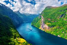 Breathtaking View Of Sunnylvsfjorden Fjord