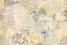 Newspaper Paper Grunge Vintage Old Aged Texture Background