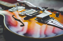 A Beautiful Classic Vintage Electric Guitar Body