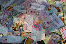 Colourful Variety Prayer Joss Paper Money Fake Funny Currency Chinese Hungry Ghost Festival
