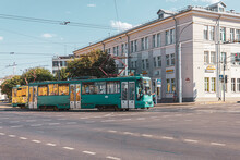 Tram At The Intersection Of Kuibyshev Street