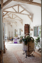 Archways And Corridor Of Luxury Home