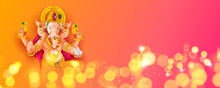 Lord Ganpati Background For Ganesh Chaturthi Festival Of India With Message Meaning My Lord Ganesha