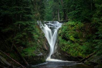 Waterfall in the mountains - Szklarki waterfall - Szklarska Poreba - Poland