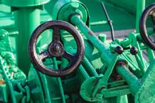 Ship Anchor Windlass Green Color