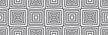 Striped Hand Drawn Seamless Pattern. Black