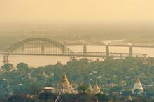 Aerial View From The Sagaing Hill In Mandalay, Myanmar Burma