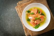 Fresh Salmon Raw Spicy Seafood Salad