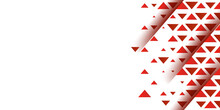 Red Triangle Mosaic Pattern Particle Abstract Presentation Background On White Background